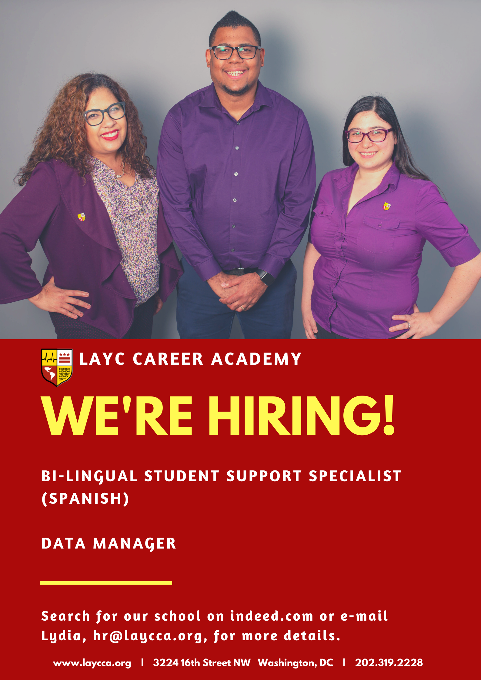 Student support specialist, data manager, director of data, job opening, hiring, apply