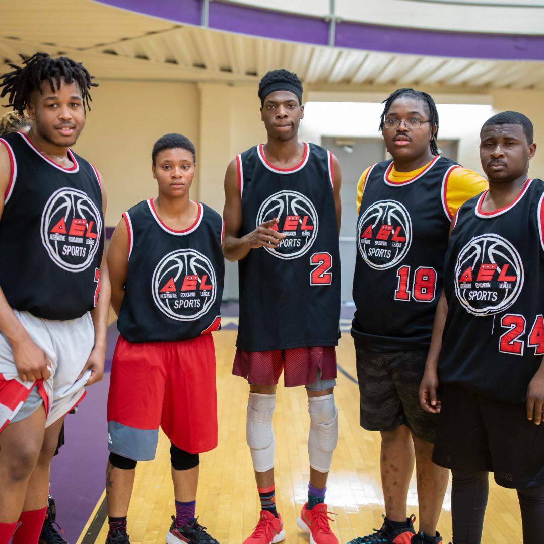 LAYC Career Academy Basketball Team